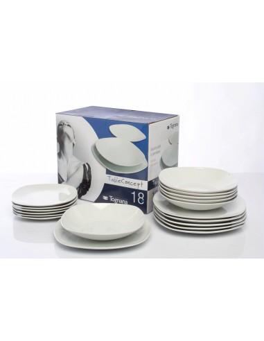 ACCESSORI PER LA TAVOLA: vendita online Tognana Porcellane SE070180000 servizio da tavola 18 pezzo(i) Porcellana Bianco in of...