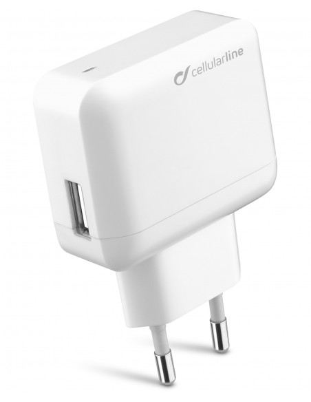 CARICABATTERIE: vendita online Cellularline USB Charger Ultra - Fast Charge Universale Caricabatterie veloce a 10W Bianco in ...