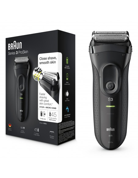 RASOI ELETTRICI: vendita online Braun Series 3 ProSkin 3020s Rasoio Elettrico, Nero in offerta