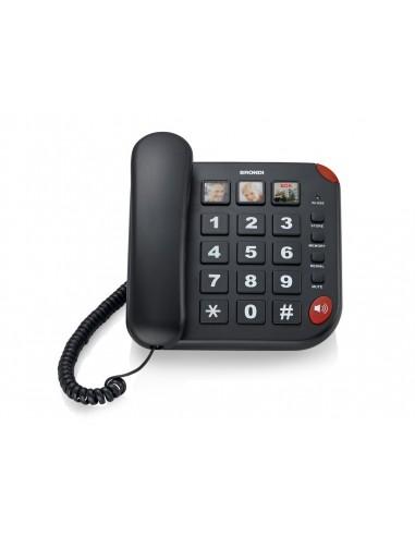 TELEFONI CON FILO: vendita online Brondi BRAVO 15 Telefono analogico Identificatore di chiamata Nero in offerta