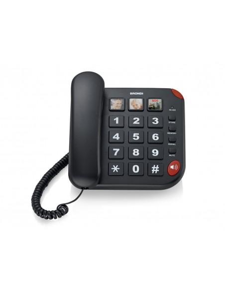 TELEFONI CON FILO: vendita online Brondi BRAVO 15 Telefono analogico Nero Identificatore di chiamata in offerta