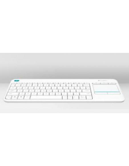 TASTIERE SMART TV: vendita online Logitech K400 Plus tastiera RF Wireless QWERTY Italiano Bianco in offerta