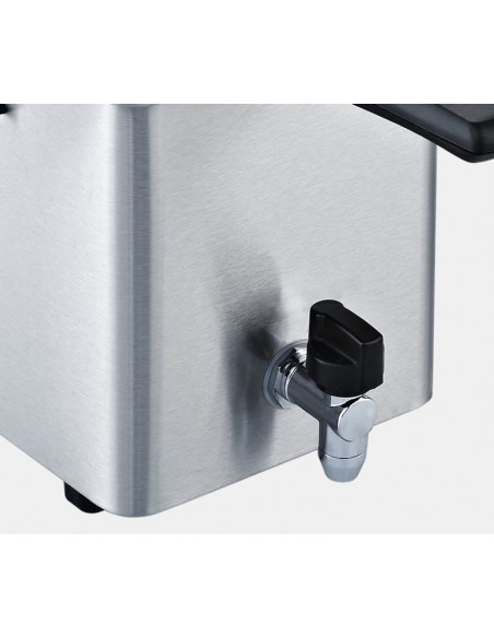 FRIGGITRICI: vendita online RGV FR TYPE4L friggitrice 4 L Singolo Nero, Acciaio inossidabile Indipendente 2500 W in offerta