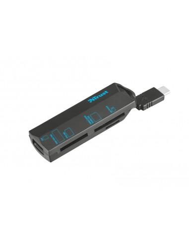 CARD READER: vendita online Trust 20968 lettore di schede Nero USB 3.2 Gen 1 (3.1 Gen 1) Type-C in offerta
