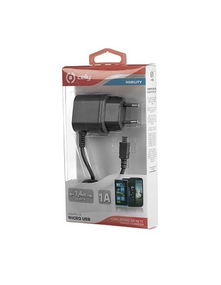CARICABATTERIE: vendita online Celly TCMICRO Caricabatterie per dispositivi mobili Interno Nero in offerta