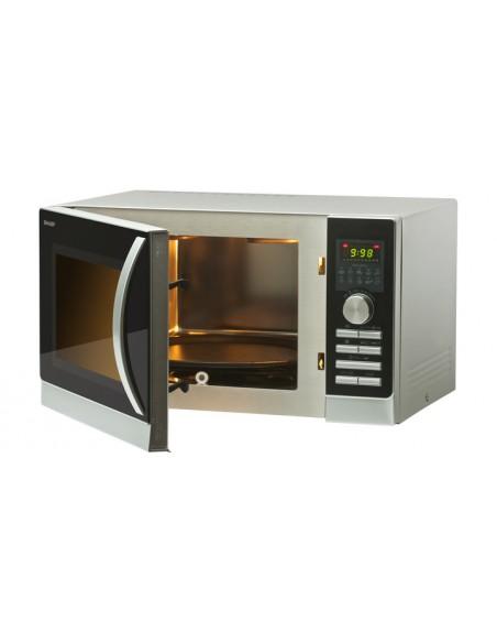 MICROONDE: vendita online Sharp Home Appliances R-844INW forno a microonde Superficie piana Microonde combinato 25 L 900 W Ne...