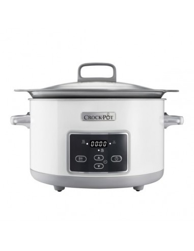 COOKING MACHINE: vendita online Crock-Pot CSC026 pentola a cottura lenta 5 L Argento, Bianco in offerta