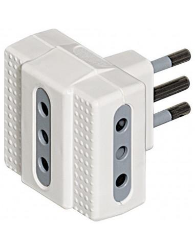 MATERIALE ELETTRICO: vendita online bticino S3603D adattatore per presa di corrente Grigio, Bianco in offerta