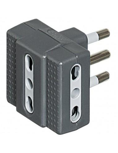 MATERIALE ELETTRICO: vendita online bticino S3604G adattatore per presa di corrente Tipo L (IT) Grigio, Bianco in offerta