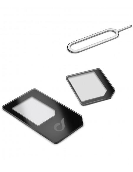 CAVI E ADATTATORI: vendita online Cellularline Nano Sim Adapters Kit Da Nano SIM a SIM e Micro SIM Nero in offerta
