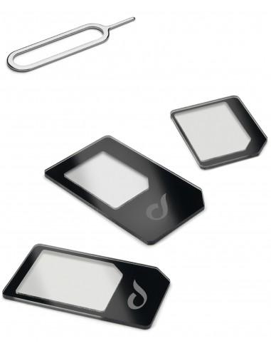 CAVI E ADATTATORI: vendita online Cellularline Universal Sim Adapters Kit di adattatori per micro SIM e nano SIM Nero in offerta