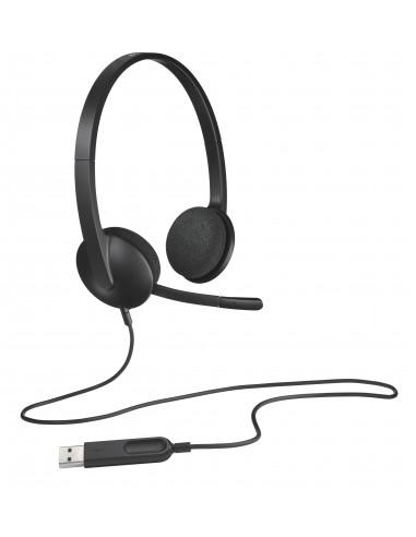 CUFFIE PC: vendita online Logitech H340 Cuffia Padiglione auricolare USB tipo A Nero in offerta