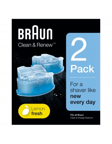 ACCESSORI CURA E BELLEZZA: vendita online Braun Clean&Charge Cartucce Di Ricarica Per Rasoio Da Barba Elettrico, 2 Confezioni...