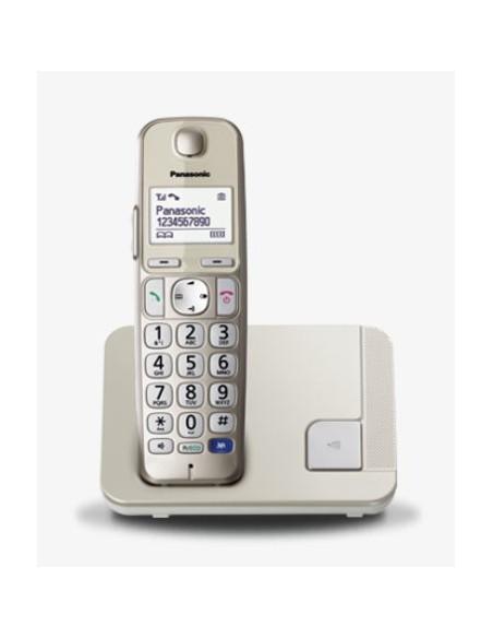 TELEFONI CORDLESS: vendita online Panasonic KX-TGE210JTN telefono Telefono DECT Champagne Identificatore di chiamata in offerta