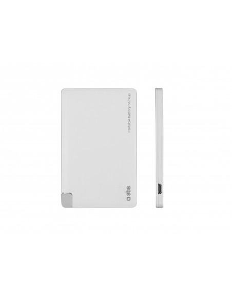 CARICABATTERIE: vendita online SBS TEBB3000LHW batteria portatile Bianco Litio 3000 mAh in offerta