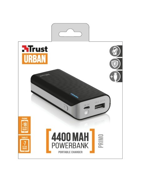 CARICABATTERIE: vendita online Trust Primo 4400 batteria portatile Nero 4400 mAh in offerta