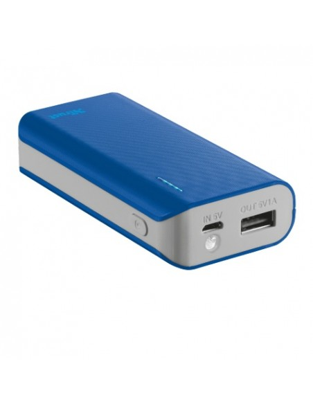 CARICABATTERIE: vendita online Trust Primo 4400 batteria portatile Blu 4400 mAh in offerta