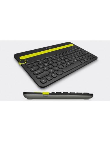 TASTIERE E MOUSE: vendita online Logitech K480 tastiera per dispositivo mobile QZERTY Italiano Nero, Verde Bluetooth in offerta