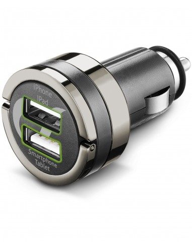 CARICABATTERIE: vendita online Cellularline USB Car Charger Dual Plus - Universale Caricabatterie veloce a 21W e finiture in ...
