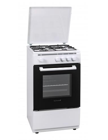 CUCINE CON FORNO A GAS: vendita online Techlife TLCK55FGB cucina Piano cottura Gas Bianco in offerta