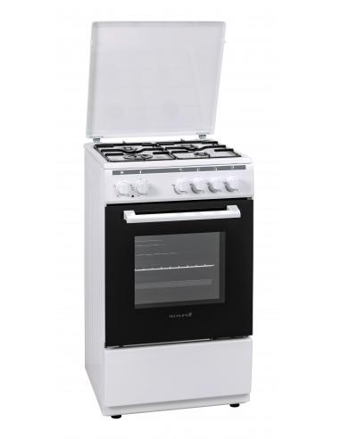 CUCINE CON FORNO ELETTRICO: vendita online Techlife TLCK55FEB cucina Piano cottura Gas Bianco in offerta