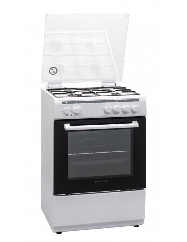 CUCINE CON FORNO ELETTRICO: vendita online Techlife TLCK66FEB cucina Piano cottura Gas Bianco in offerta