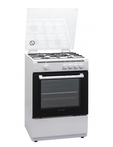 CUCINE CON FORNO A GAS: vendita online Techlife TLCK66FGGEB cucina Piano cottura Gas Bianco in offerta