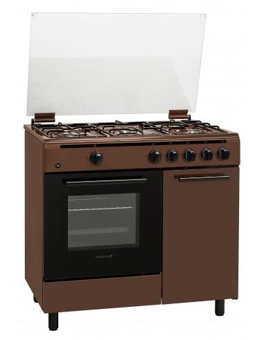 CUCINE CON FORNO A GAS: vendita online Techlife TLCK96FGGEC cucina Piano cottura Gas Marrone in offerta