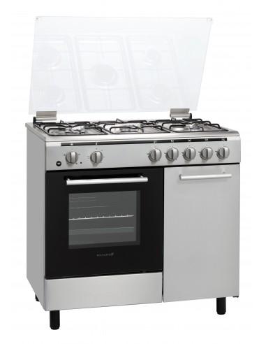 CUCINE CON FORNO ELETTRICO: vendita online Techlife TLCK96FMX cucina Piano cottura Gas Acciaio inossidabile in offerta