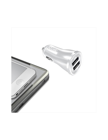 CARICABATTERIE: vendita online CELLY CCUSB22W CAR CHARGER 2.1A CON 2 USB WH in offerta