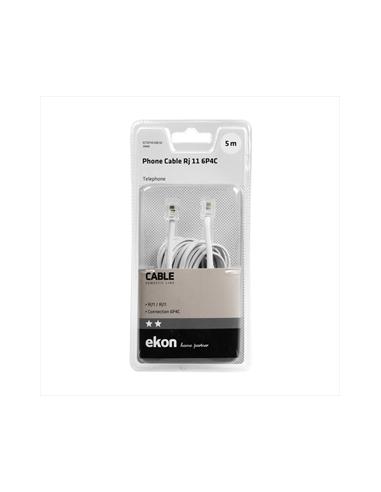 ACCESSORI TELEFONIA FISSA: vendita online Ekon ECTEFIXCABL50 cavo telefonico 5 m Bianco in offerta