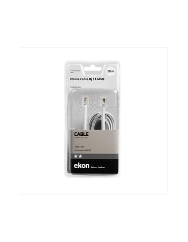 ACCESSORI TELEFONIA FISSA: vendita online Ekon ECTEFIXCABL100 cavo telefonico 10 m Bianco in offerta
