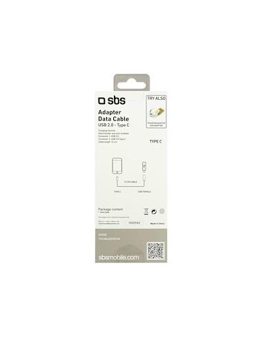 CAVI E ADATTATORI: vendita online SBS TEKABELOTGTCK cavo USB 0,15 m USB 2.0 USB A USB C Nero in offerta