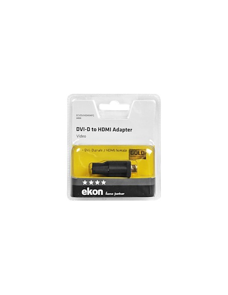 CAVI VIDEO E ANTENNA: vendita online Ekon ECVDVIHDMIMFG cavo di interfaccia e adattatore DVI-D HDMI Nero in offerta
