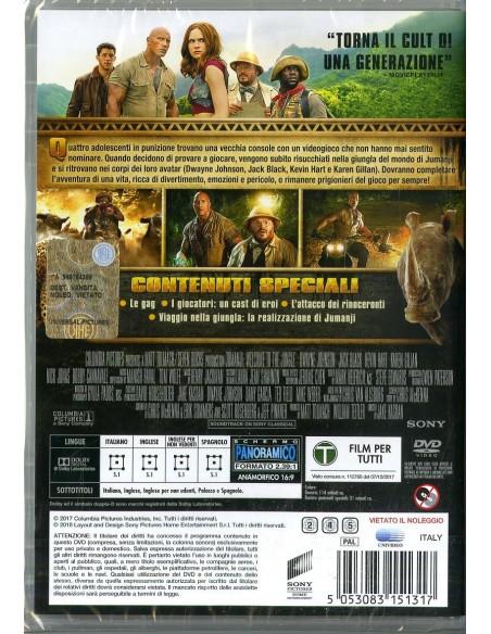 FILM: vendita online Sony Pictures Jumanji. Benvenuti nella giungla DVD 2D Inglese, ESP, ITA in offerta