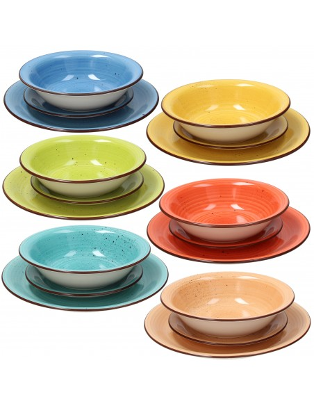 ACCESSORI PER LA TAVOLA: vendita online Tognana Porcellane Louise servizio da tavola Ceramica Multicolore 18 pezzo(i) in offerta