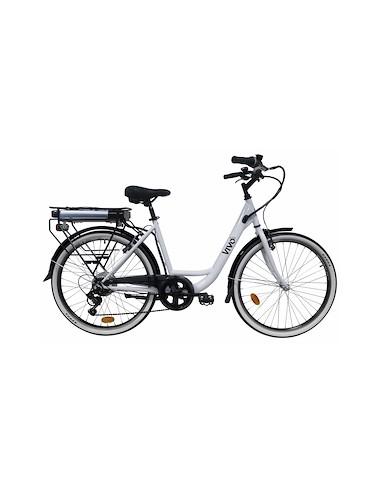 """BICI ELETTRICHE: vendita online Vivobike VC26G Nero, Bianco Acciaio 66 cm (26"""") 23,8 kg in offerta"""