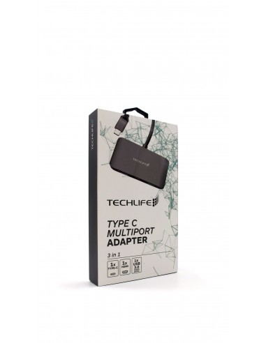 ALTRI ACCESSORI INFORMATICA: vendita online TECHLIFE TLIT0007 ADATTATORE TYPE C HDMI 3 IN 1 in offerta